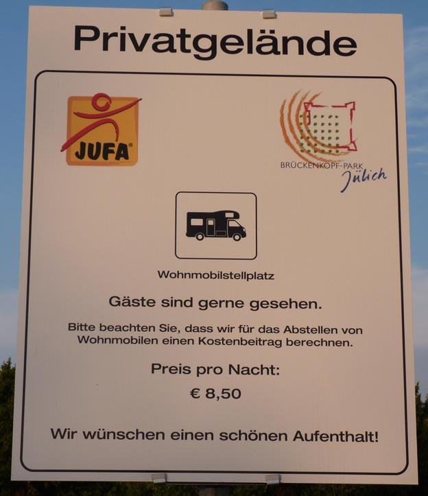 001 2014-07-14 010 Ställplats i Jülich, Brückenhof Park
