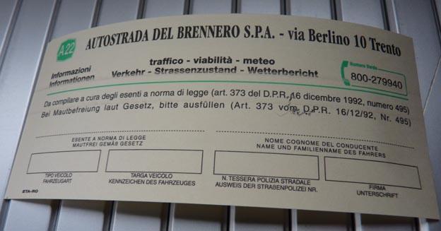 002 2014-07-08 002 Vägbiljett Italien