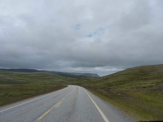 Väg E69 mot Nordkap