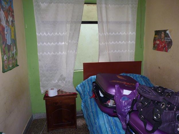 Mitt rum hemma hos Irma och Farshid.