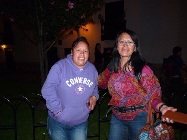En aktivist som jag inte minns namnet på, och Nidia.