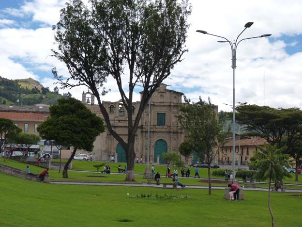 Torget i Cajamarca.