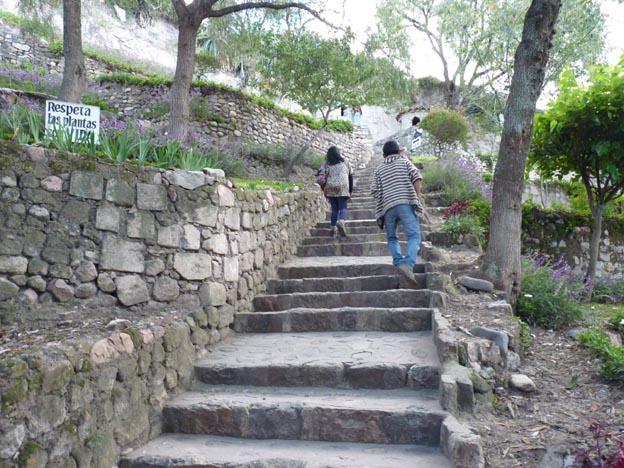 Många trappor var det.