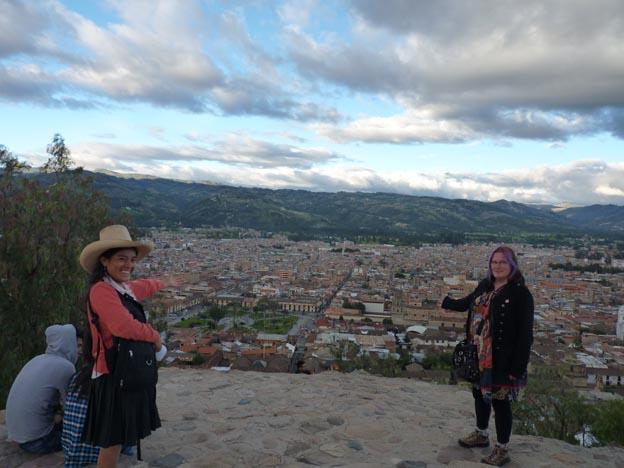 Nely, jag och Cajamarca.