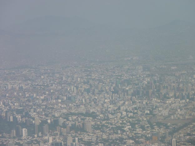 Lima/Callao från luften.