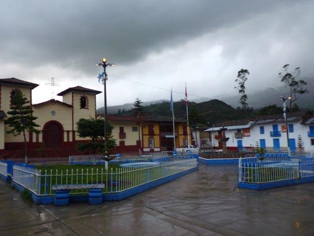 Torget i Sorochucko, staden innan Salacat.